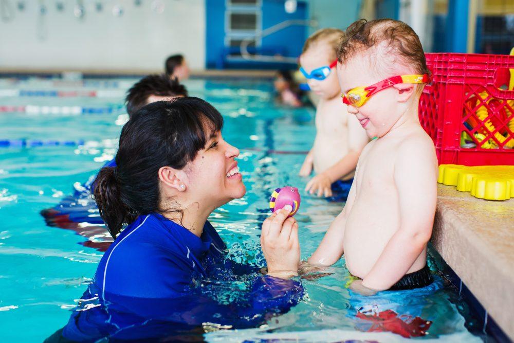 Abc s of water safety with aqua tots swim schools north for Indoor pool mesa az